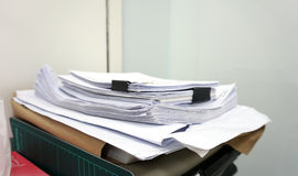 Stack of business pater Royalty Free Stock Images