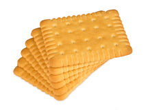 Stack of butter biscuits Stock Photos