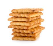 Stack of butter biscuits Stock Images