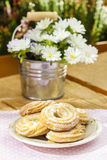 Stack of butter cookies Stock Image