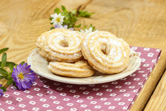 Stack of butter cookies Royalty Free Stock Photo