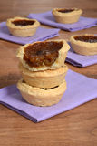 Stack of butter tarts Stock Images