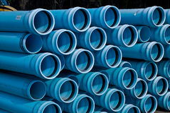 Stacks of C900 DR18 PVC Pipe Royalty Free Stock Photo