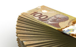 Stack of Canadian Dollar Royalty Free Stock Photography