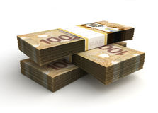 Stack of Canadian Dollar Vector Illustration