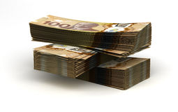 Stack of Canadian Dollar Royalty Free Stock Image
