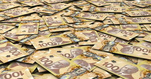 Stack of Canadian Dollars stock video