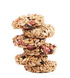Stack of candied peanuts sunflower seeds. Royalty Free Stock Images