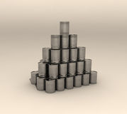 Stack of cans Stock Images