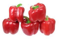 Stack of Capsicums Stock Images
