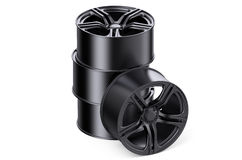 Stack of car rims Royalty Free Stock Photo