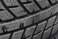 Stack of car tires Stock Photo