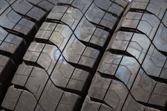 Stack of car tires Stock Images