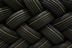 Stack of car tires with shadow deep of view. Great for backgrounds.  stock photos