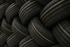 Stack of car tires with shadow deep of view. Great for backgrounds.  stock images