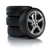Stack of Car wheels Stock Images