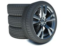 Stack of Car wheels vector illustration