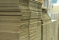 The stack of cardboard stock photo