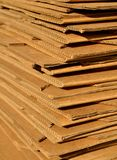 Stack of Cardboard. Stack of new cardboard piled up for shipping or other uses Royalty Free Stock Photography
