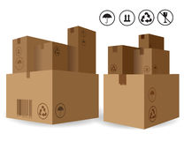Stack of Cardboard Bexes Stock Photo