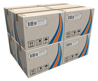 Stack of cardboard boxes stock illustration