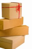 Stack of cardboard boxes Stock Photo