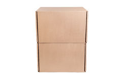 Stack of cardboard Royalty Free Stock Photos