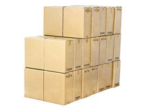 Stack of cardboard boxes Royalty Free Stock Photography