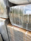 Stack cardboard boxes in warehouse. royalty free stock images