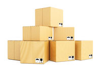 Stack of cardboard boxes Royalty Free Stock Image