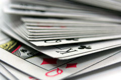 Stack of cards. On white background Royalty Free Stock Photography