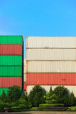 Stack of Cargo Containers Stock Photos