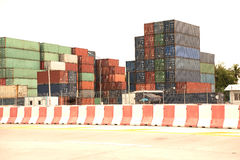 Stack of Cargo Containers. Royalty Free Stock Image