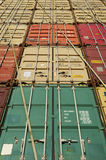 Stack of Cargo Containers Stock Photography
