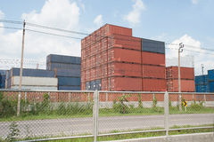 Stack of Cargo Containers. Stock Photography