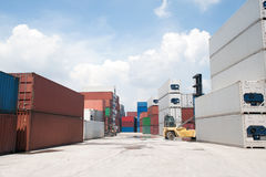 Stack of Cargo Containers. Stock Photos