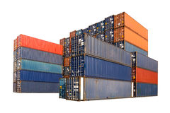 Stack of Cargo Containers Stock Photo