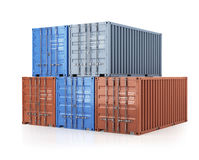 Stack of cargo containers Royalty Free Stock Image