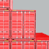 A Stack of Cargo Containers for Overseas Shipping. Close-up 3D Rendering Royalty Free Stock Image