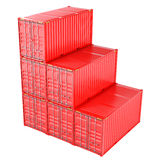 A Stack of Cargo Containers for Overseas Shipping. 3D Rendering Royalty Free Stock Photography