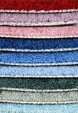 Stack of carpet samples Stock Images