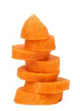 Stack of carrot slices. Stock Photography