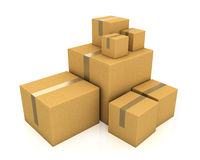 Stack of carton boxes Stock Image