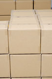 Stack of carton boxes package. For background Royalty Free Stock Images
