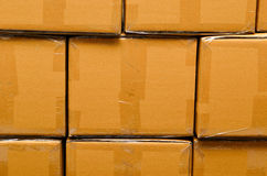 Stack of carton boxes package Stock Image