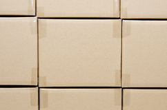 Stack of carton boxes package Stock Images