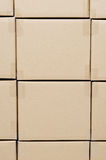 Stack of carton boxes package Royalty Free Stock Photos