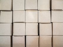 Stack of carton boxes package background royalty free stock photos