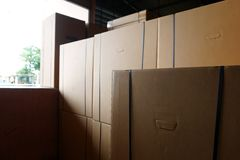 Stack of carton boxes Stock Photography