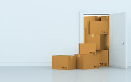 Stack of cartons Stock Photos